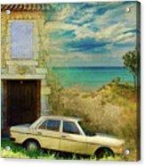 24 Hr Parking By The Beach Acrylic Print