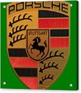 Porsche Label Acrylic Print