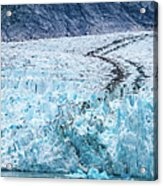 Sawyer Glacier At Tracy Arm Fjord In Alaska Panhandle Acrylic Print