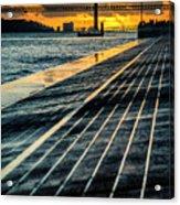 25 De Abril Bridge In Lisbon. Acrylic Print
