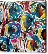 Jugglery Of Colors Acrylic Print