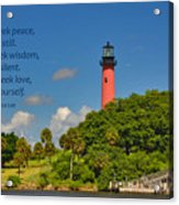 255- Becca Lee - Jupiter Lighthouse Acrylic Print