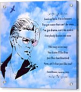 256- David Bowie Acrylic Print