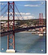 25th Of April Suspension Bridge In Lisbon Acrylic Print