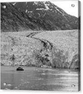 Sawyer Glacier At Tracy Arm Fjord In Alaska Panhandle Acrylic Print
