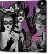 2616 Ladies Masks Man Weapons 2018 Acrylic Print