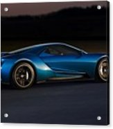 269243 Car Ford Gt Race Tracks Acrylic Print