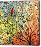 27 Birds Acrylic Print by Jennifer Lommers