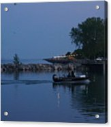 Racine Coastal Seascape - Michigan Lake In Wisconsin By Adam Asar Acrylic Print