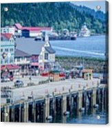 Scenery Around Alaskan Town Of Ketchikan Acrylic Print