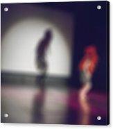 Contemporary Dance Performance Bokeh Blur Background Acrylic Print