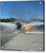 Firefighting Acrylic Print