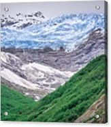 Glacier And Mountains Landscapes In Wild And Beautiful Alaska Acrylic Print