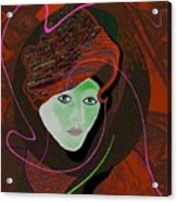 289 - Anna  With  Dark Red Cap Acrylic Print