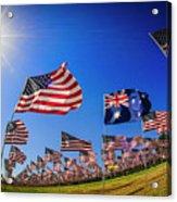 Pepperdine Flag Salute Acrylic Print