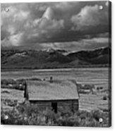 2d07515-bw Abandoned Cabin Acrylic Print
