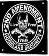 2nd Amendment Acrylic Print