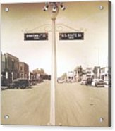 2nd St. 1930 And Route 66 1950 Acrylic Print
