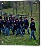 2nd Wi Infantry Black Hats Acrylic Print