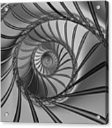 2x1 Abstract 434 Bw Acrylic Print