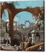 A Capriccio Of Roman Ruins Acrylic Print