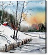 A Classic Winter Acrylic Print