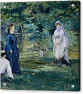 A Game Of Croquet Acrylic Print