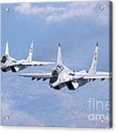 A Pair Of Bulgarian Air Force Mig-29s Acrylic Print