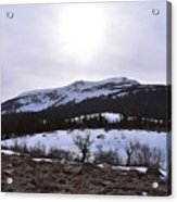 A Snowy Desert Mountain Scene Above Twin Lakes Along The Trail To Monument Ridge In The Eastern Sier Acrylic Print