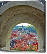 A View Of Cesky Krumlov In The Czech Republic Acrylic Print