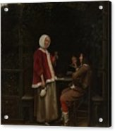 A Woman And Two Men In An Arbor Acrylic Print
