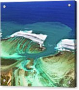 Aerial View Of The Underwater Channel. Mauritius Acrylic Print