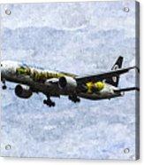 Air New Zealand Hobbit Boeing 777 Art Acrylic Print
