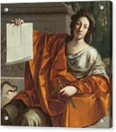 Allegory Of Geometry Acrylic Print