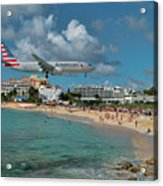 American Airlines At St. Maarten Acrylic Print