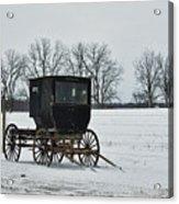 Amish Buggy Near Shipshe Acrylic Print