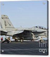 An Fa-18f Super Hornet Ready To Launch Acrylic Print
