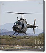 An Oh-58 Kiowa Helicopter Of The U.s Acrylic Print