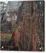Angels Landing In Zion Acrylic Print