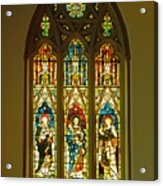 3 Apostles South Stained Glass Window Christ Church Cathedral 1 Acrylic Print