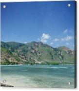 Areia Branca Tropical Beach View Near Dili In East Timor Acrylic Print