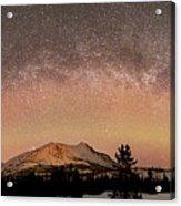 Aurora Borealis And Milky Way Acrylic Print