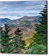 Autumn Foliage On Blue Ridge Parkway Near Maggie Valley North Ca Acrylic Print