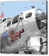 B-17g Flying Fortress Sentimental Journey 2 Avra Valley Arizona 1991 Color Added 2008 Acrylic Print
