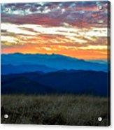 Bald Mountain Sunset Acrylic Print