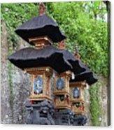 3 Bali Shrines Acrylic Print