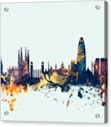 Barcelona Spain Skyline Acrylic Print
