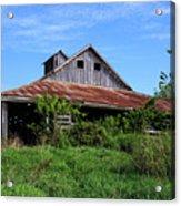 Barn In The Blue Sky Acrylic Print