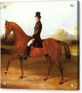 Barraud Henry Richard Paget Of Cropston Leicester On A Bay Hunter Henry Barraud Acrylic Print