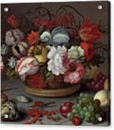 Basket Of Flowers Acrylic Print